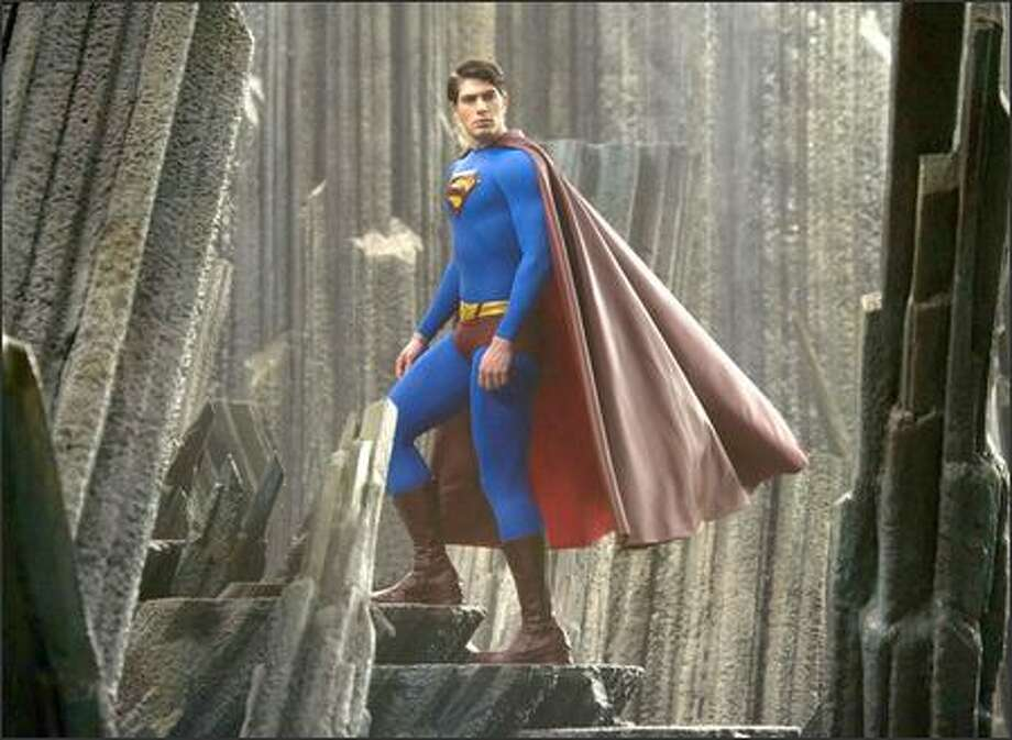 """Superman Returns,"" with Brandon Routh as the new Man of Steel, is due in theaters June 30. Photo: / Associated Press"