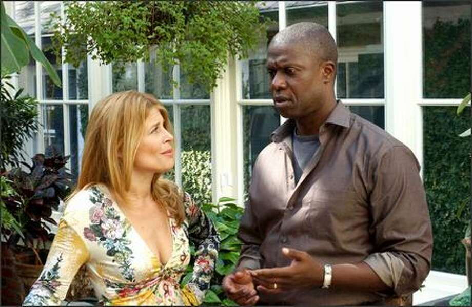 "Andre Braugher's Nick Atwater consults with Roz (Linda Hamilton), on FX's new drama, ""Thief."" Photo: FX"