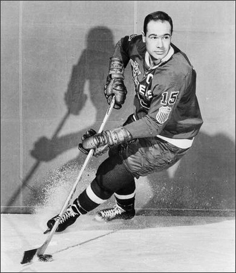 "Bill ""Packy"" MacFarland played 10 seasons with the Seattle Totems and Americans and was the 1962 Western Hockey League MVP. He scored 324 goals in 688 games. Photo: /"