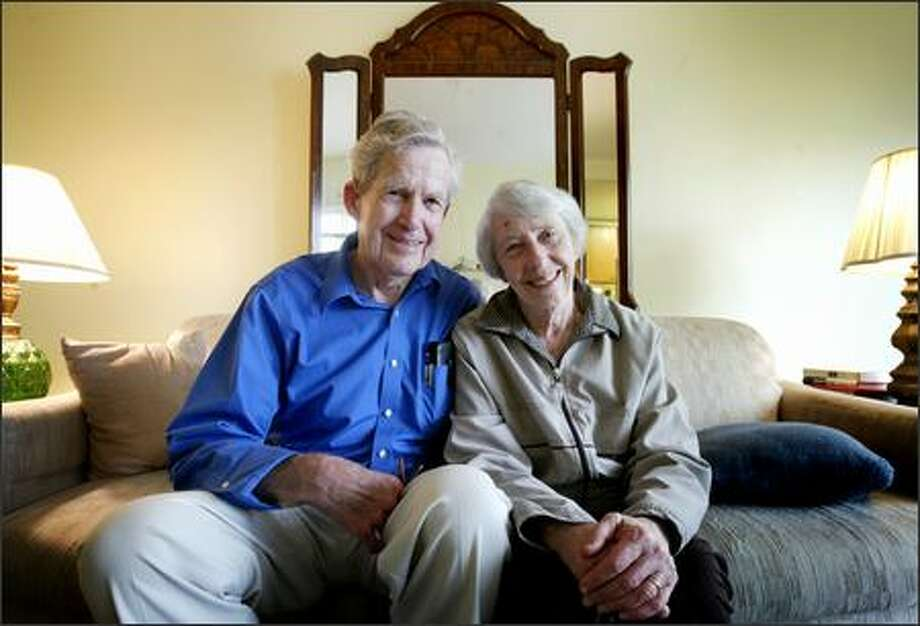 Chuck and Marcia McBeath, ages 83 and 81, respectively, have signed up for the Peace Corps six times, most recently in Kenya for the past two years. The couple live in an apartment in the U District. Photo: Dan DeLong/Seattle Post-Intelligencer