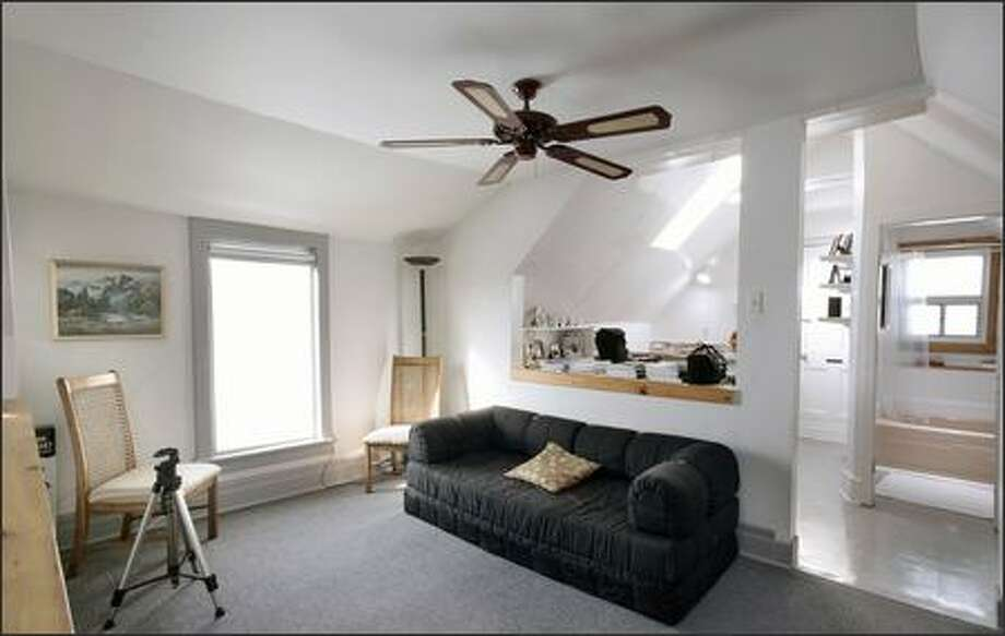 Before: The cramped attic living area was non-functional. Photo: / HGTV