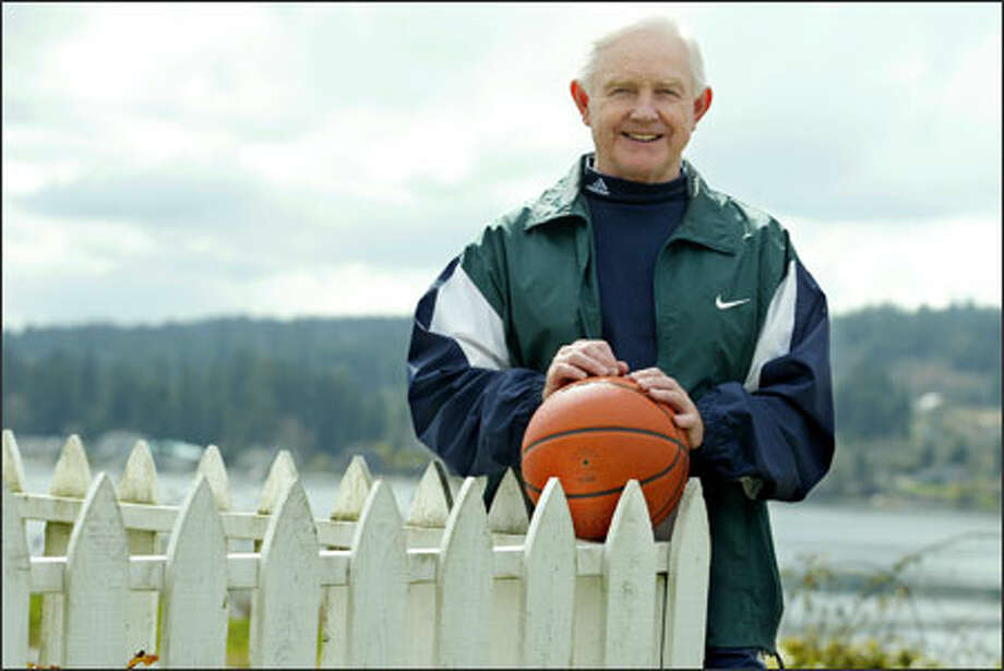 Jim Harney, retired high school basketball coach at Seattle Prep and North Kitsap, played on Seattle University's 1958 Final Four team. Photo: Dan DeLong/Seattle Post-Intelligencer