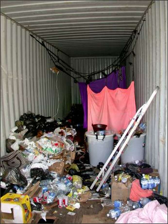 The interior of the cargo container. Photo: /