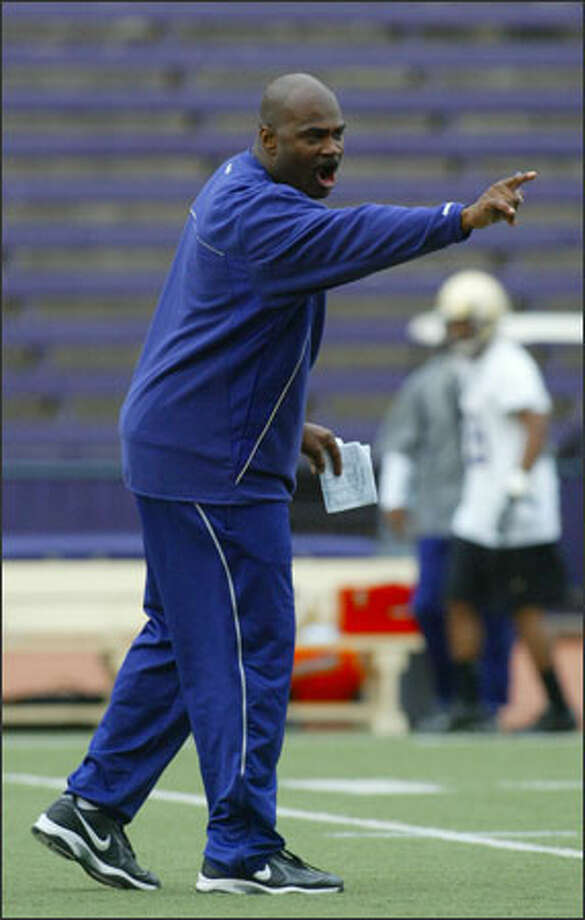 J.D. Williams, the Huskies' new defensive backs coach, is the older brother of ex-Husky Curtis Williams, who died in 2002. Photo: Scott Eklund/Seattle Post-Intelligencer