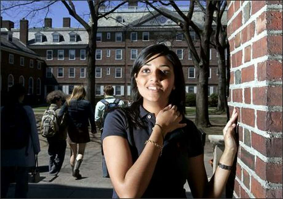"Harvard sophomore Kaavya Viswanathan, 19, signed a two-book deal when she was 17. She has apologized to author Megan McCafferty for ""inappropriate similarities"" in their works. Photo: / Associated Press"