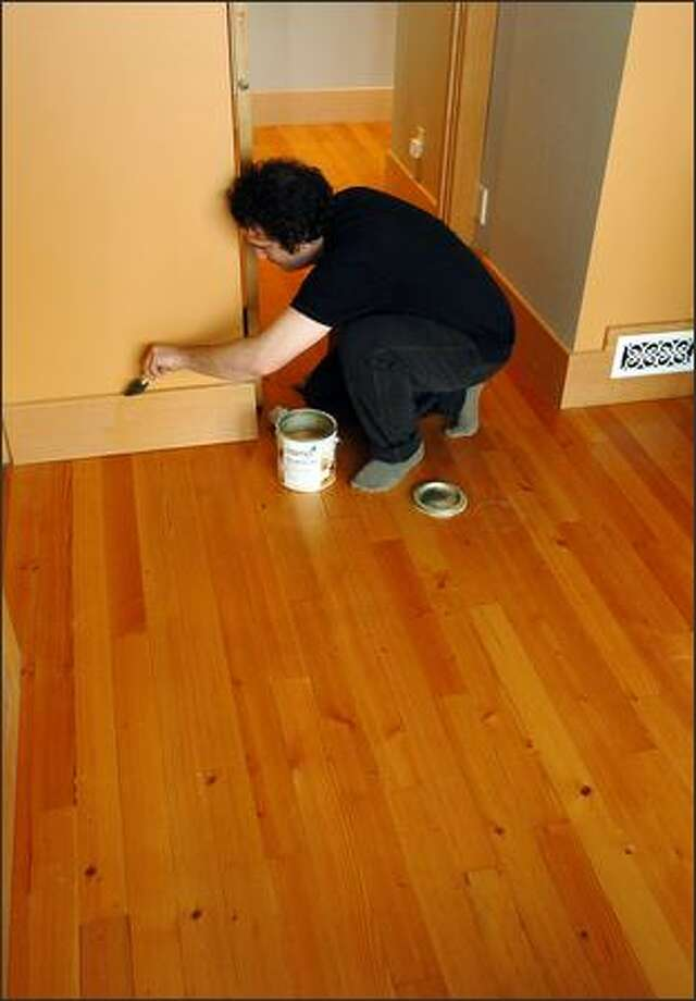 February: Wash all baseboards. Use a dryer sheet to clean; the dust clings to them and they smell great. Photo: Steve Shelton/Special To The Seattle Post-Intelligencer