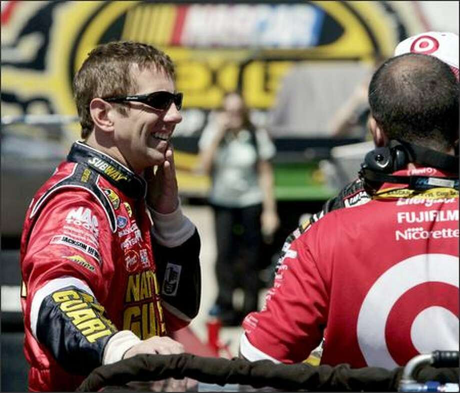 Greg Biffle, the Nextel Cup runner-up in 2005, is 20th in 2006 after a string of broken parts and empty gas tanks have cost him wins. Photo: / Associated Press