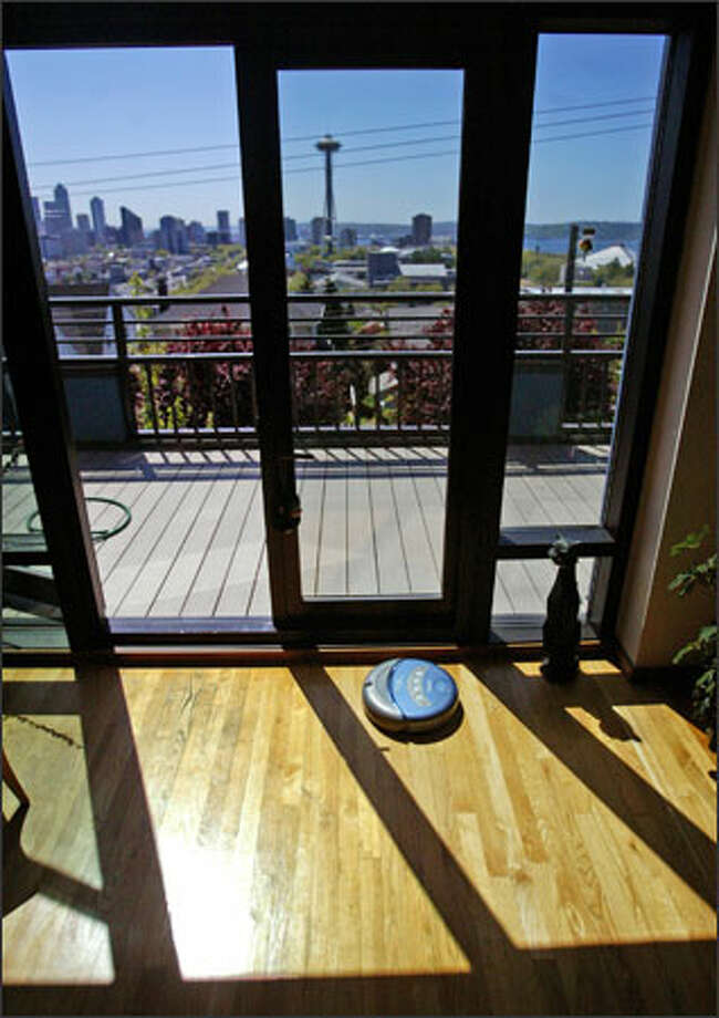 So far, iRobot has sold 1.5 million Roombas. The Scheduler is the company's newest version. Photo: Scott Eklund/Seattle Post-Intelligencer / Seattle Post-Intelligencer
