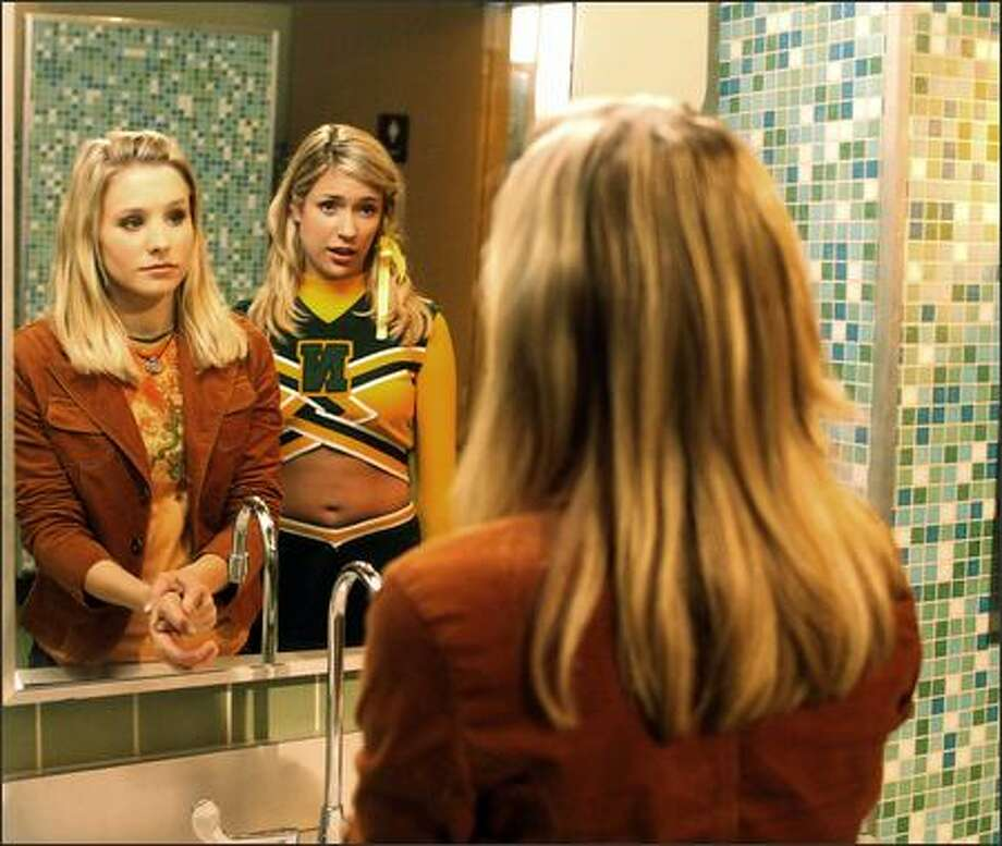 """""""Veronica Mars"""" -- which stars Kristen Bell, left, with guest star Kristin Cavallari -- made the jump from UPN to The CW. Photo: / Warner Brothers"""