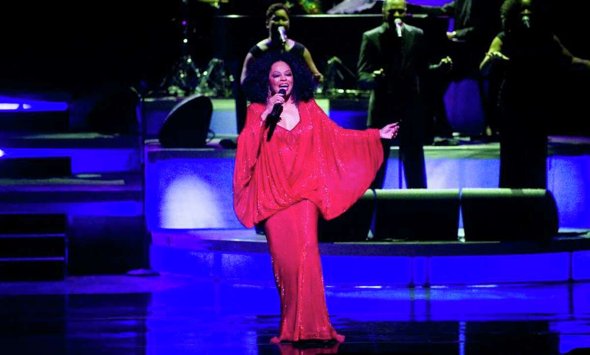 Diana Ross performs in a benefit concert for the Stamford Center for the Arts 2011 Arts Education Program at the Palace Theatre on Atlantic Street in Stamford, Conn., March 18, 2011. Before the concert Frank J. Mercede was presented with the SCA Arts Ovation Award.