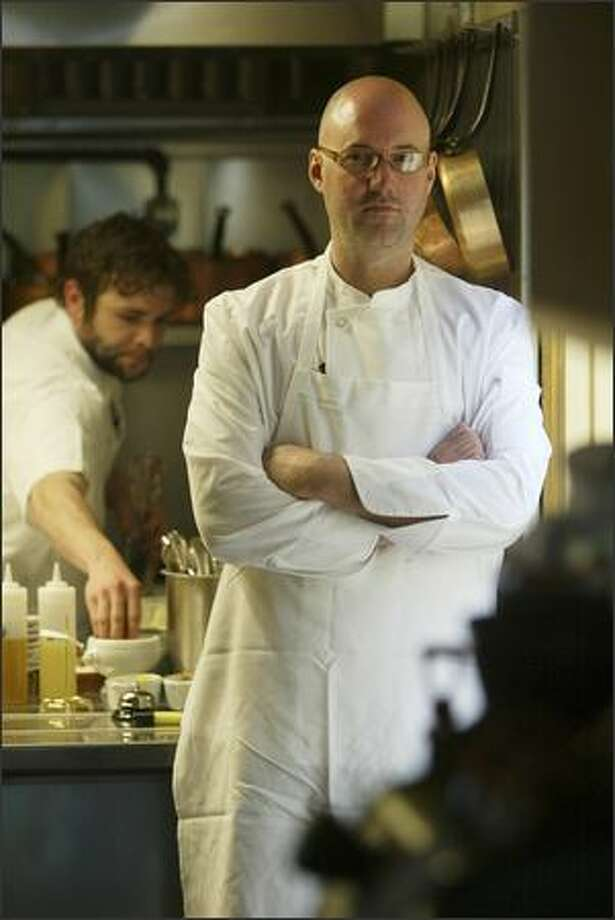 Chef Scott Emerick's serves rustic French classics at his 46-seat restaurant. His may be the best creme brulee in Seattle Photo: MIKE URBAN/P-I
