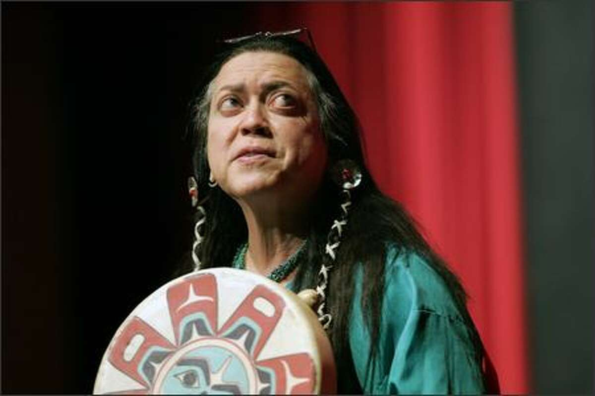 Known across North America as a pre-eminent American Indian psychologist, Terry Tafoya, of Seattle, speaks at a state-sponsored seminar in Albuquerque, N.M.