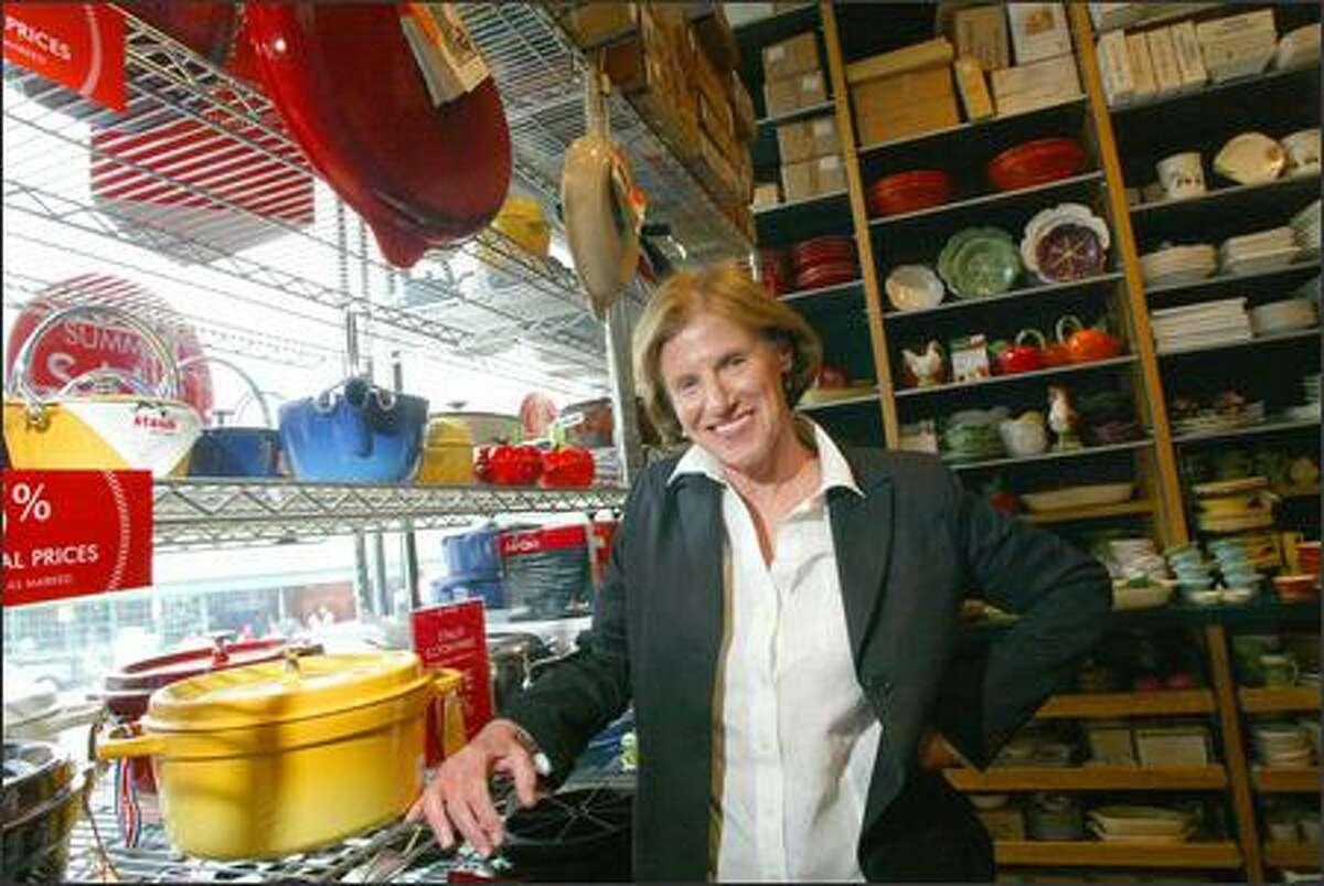 Chief Executive Kathy Tierneyin the original Sur La Table in Pike Place Market.