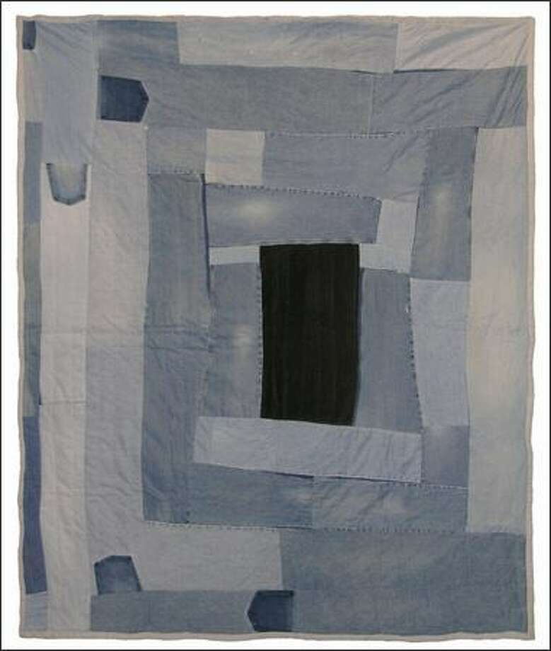 """""""Housetop,"""" a 2004 quilt by Loretta Pettway."""