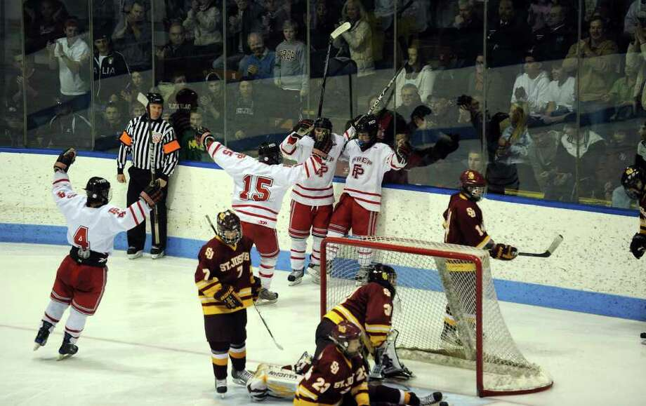 Highlights from the state final of CIAC boys hockey action between Fairfield Prep and St. Joseph at Yale's Ingalis Rink in New Haven, Conn. on March 19, 2011. Photo: Christian Abraham / Connecticut Post