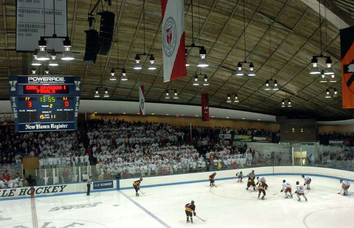 Highlights from the state final of CIAC boys hockey action between Fairfield Prep and St. Joseph at Yale's Ingalis Rink in New Haven, Conn. on March 19, 2011.