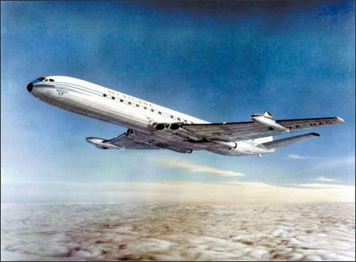 The de Havilland Comet Mk 4C, which is now being restored, first begin flying in 1959.