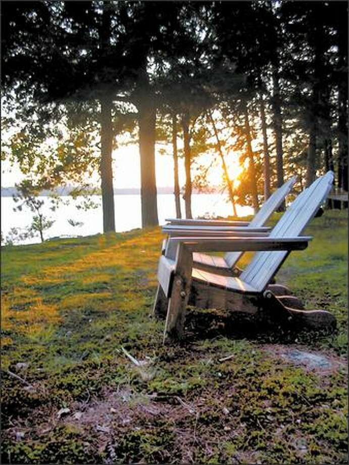 Adirondack chairs have gained a status as an American symbol of summertime leisure. Photo: /