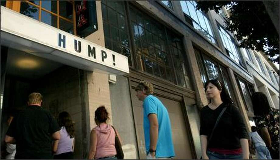 "The Stranger sold more than 1,400 tickets to its second annual ""Hump!"" festival, which features a variety of amateur erotic -- and locally made -- films. Photo: Karen Ducey/Seattle Post-Intelligencer"
