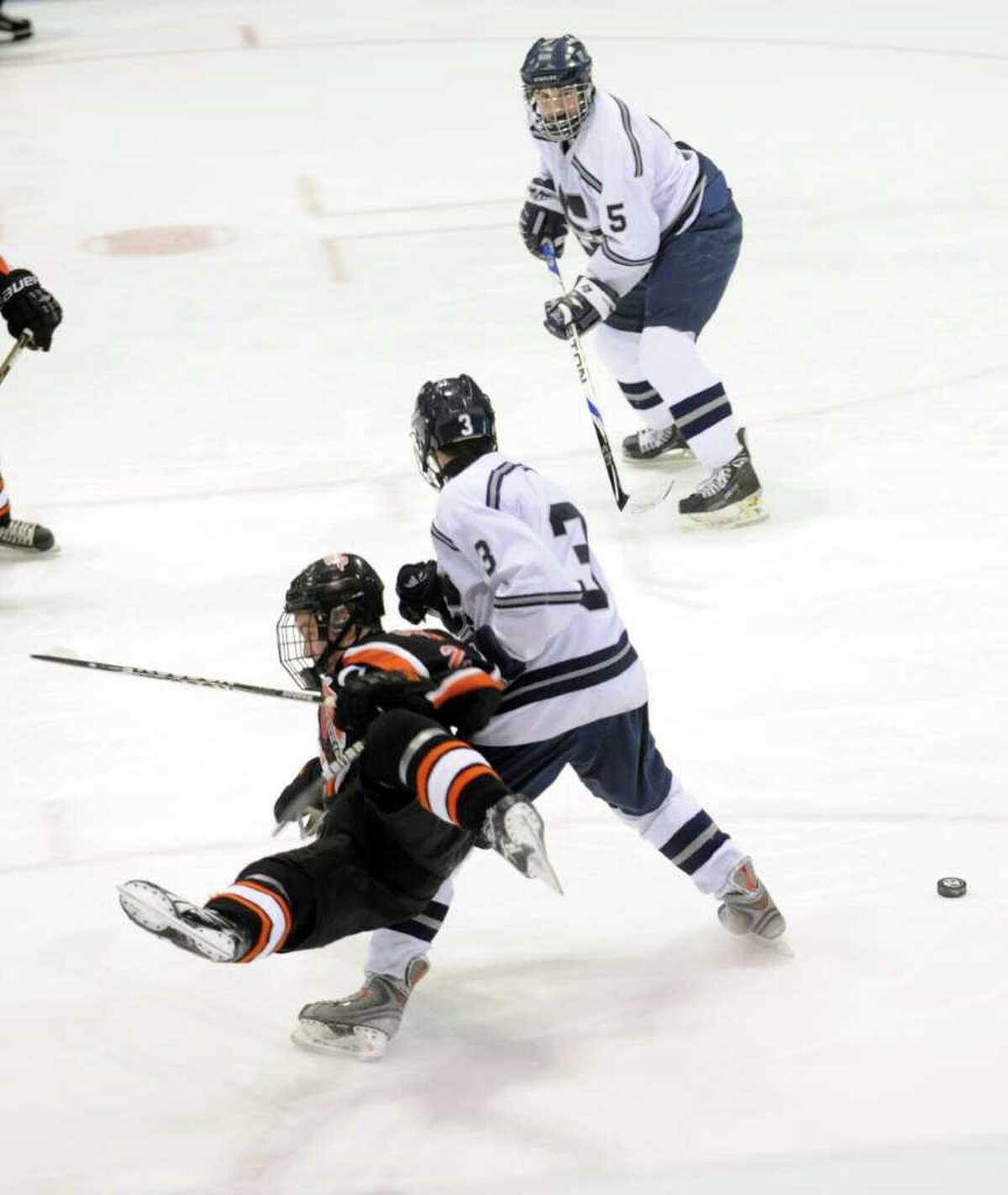 Watertown-Pomperaug takes on Staples-Weston-Shelton in the Division III state playoff game at Yale University's Ingalls Rink Saturday, Mar. 19, 2011.