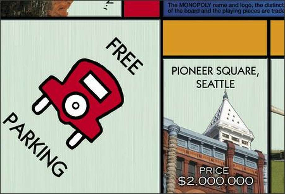 Pioneer Square won an online poll to represent Seattle in an updated version of Monopoly, unveiled on Wednesday. Photo: /