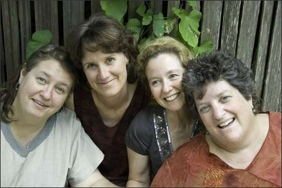 The Righteous Mothers are Marla Beth Elliott, left, Wendy Crocker, Clare Meeker and Lisa Brodoff. PHOTO BY PAT JUSTIS Photo: /