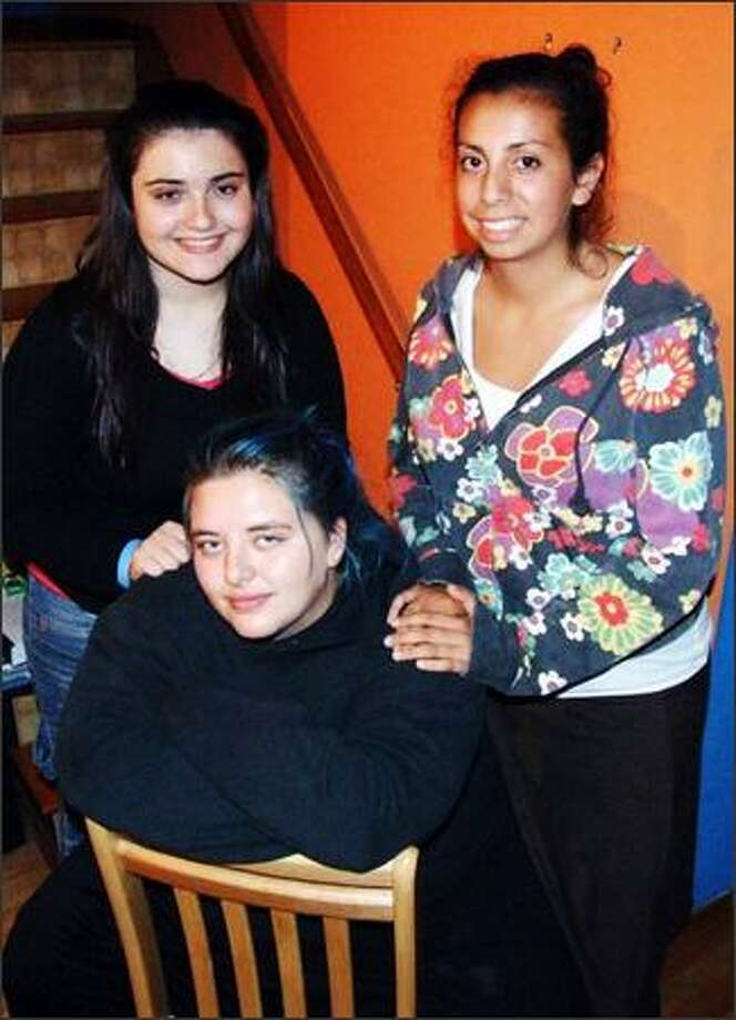 High schoolers, from left, Miri Golub, Eve Smason-Marcus and Gabi Sanchez-Stern strive for religious understanding and tolerance in Seattle. Photo: /