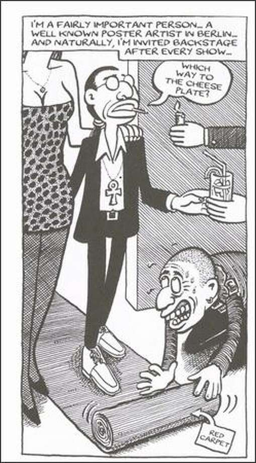 Graphic novelist Joe Sacco depicts the good, bad and ugly of the rock 'n' roll world. Photo: /