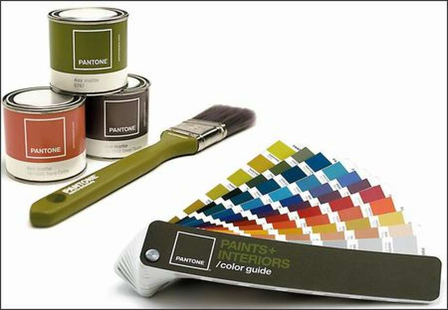 Pantone Paints enter the market with a bold color palette. The primary paint fan has 1,925 colors. Photo: / Associated Press