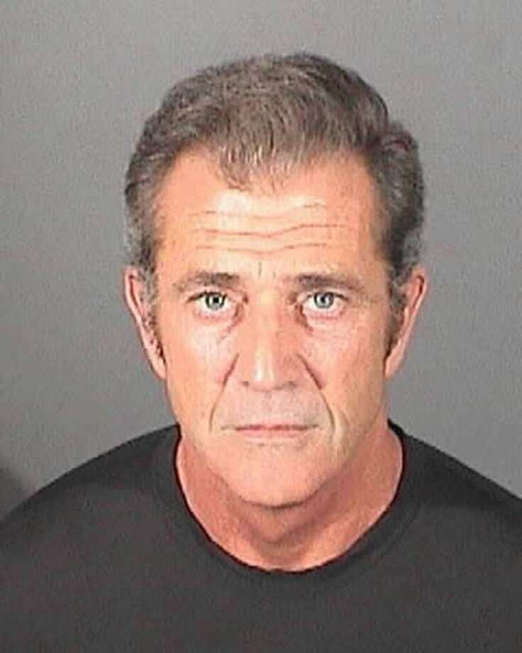 Mel Gibson, who entered a no-contest plea on March 11, 2011 to a battery  charge involving his ex-girlfriend, kicks off this gallery with a  booking mug from the El Segundo Police Department. He was placed on  probation. (Photo by El Segundo Police Department via Getty Images) Photo: Handout, Getty Images / 2011 El Segundo Police Department