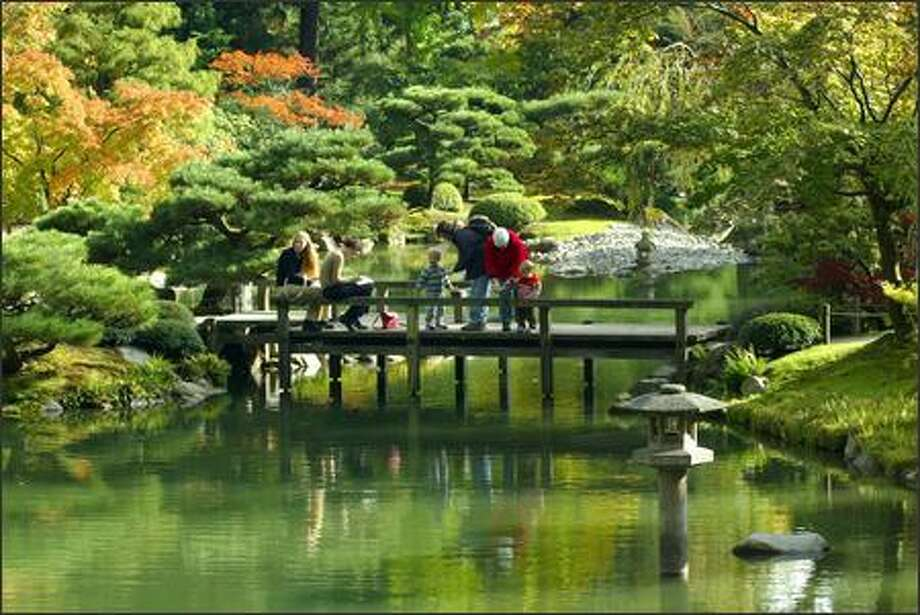 Guided tours of the Japanese Garden will be offered today, Sunday and Wednesday. Photo: GRANT HALLER/P-I 2004