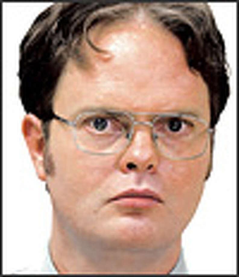 "Rainn Wilson as geeky Dwight Schrute on ""The Office."" Photo: NBC"