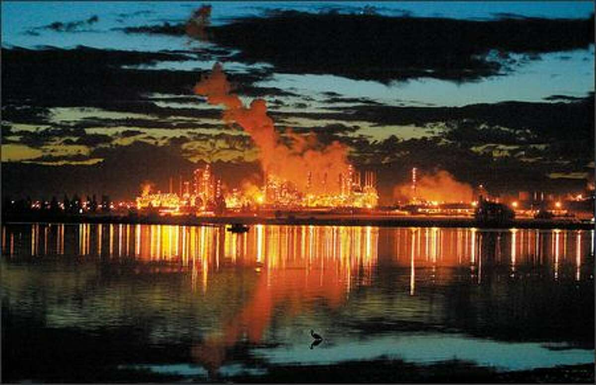 Anacortes is home to the Shell and Tesoro oil refineries. The threat of a major oil spill is the single greatest near-term risk for the extinction of Puget Sound's orcas.