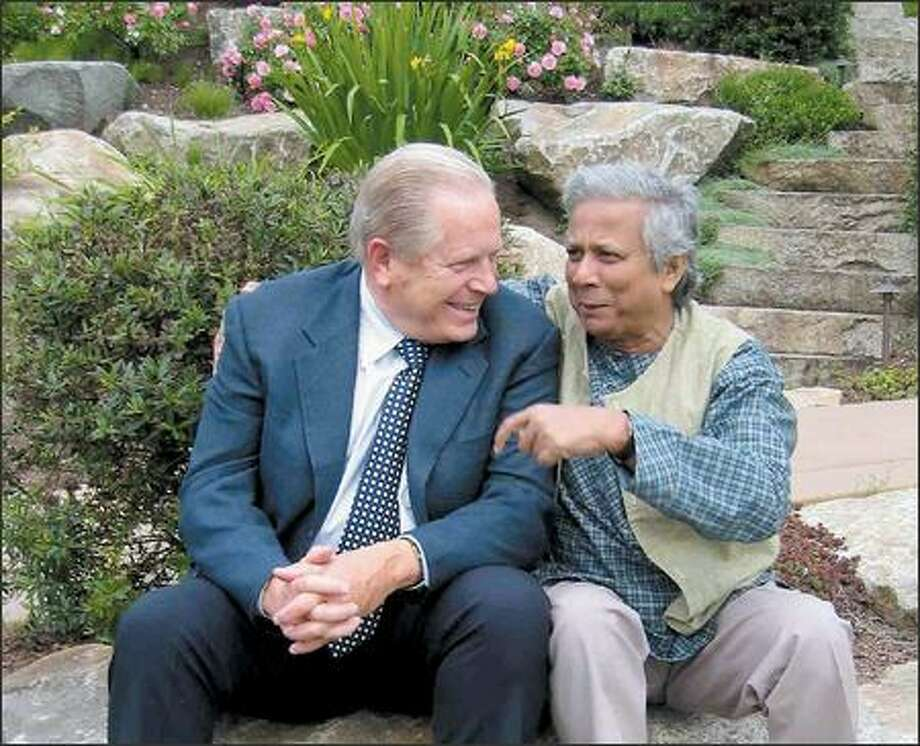 When Bill Clapp met Muhammad Yunus years ago, he became enamored with Yunus' idea to help the poor using microcredit, a loan system that has since taken off. Photo: /