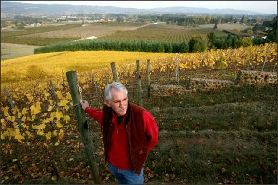 Cliff Anderson fears a planned subdivision, on land previously limited to farming, will spell the end of his vineyard near Newberg, Ore. Photo: Scott Eklund/Seattle Post-Intelligencer