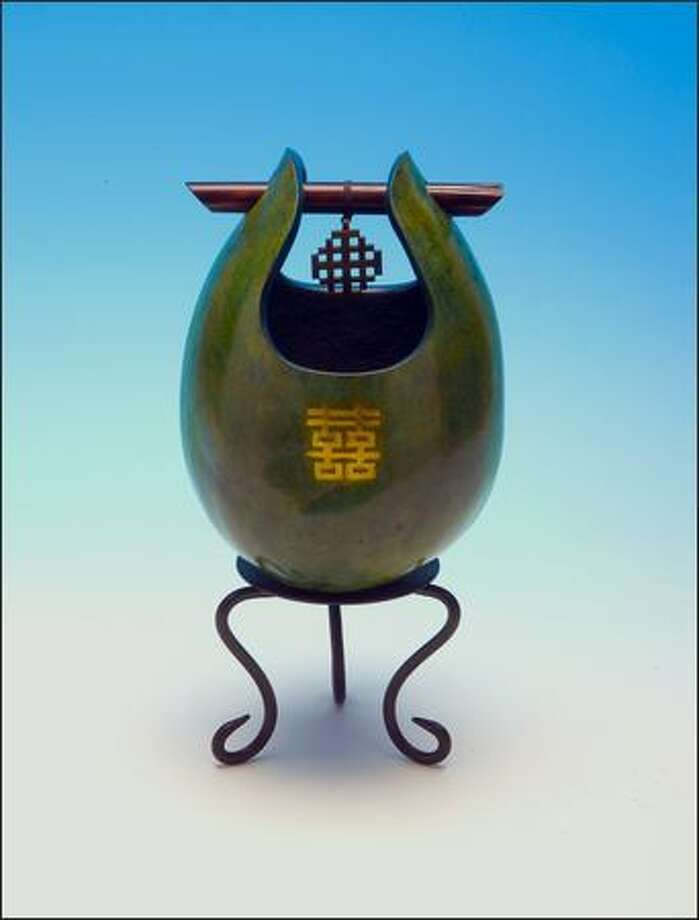 "Deborah Easley's ""Double Happiness"" gourd art. Photo: / Scripps Howard News Service"