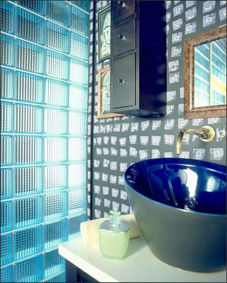 For a unique, contemporary look, consider plastic block panels tinted blue. Photo: HY-LITE PHOTOS