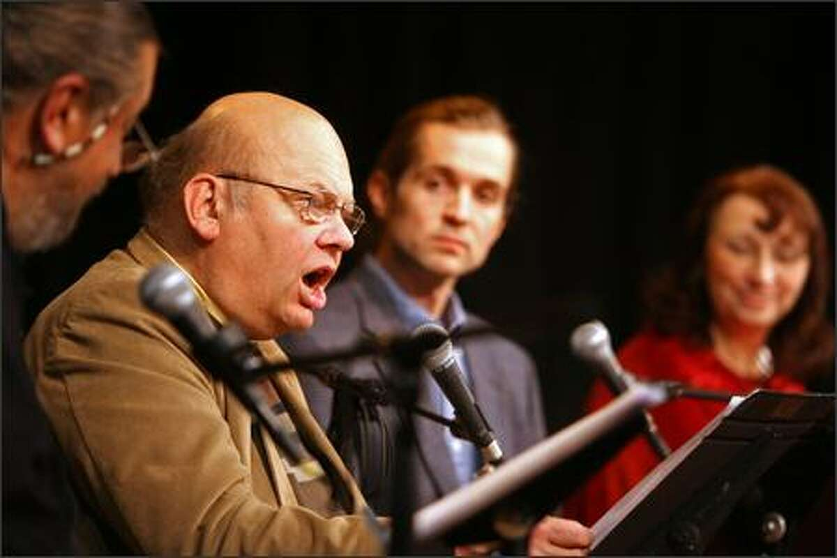 Playwright Greg Palmer reads from his new play on Seattle's founders and the Native Americans whose lives they changed.