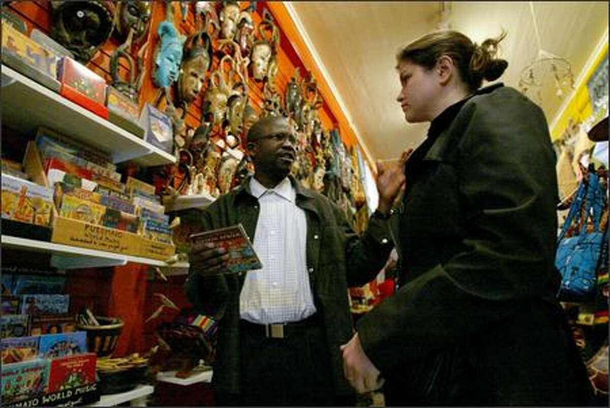 Mamadou Diakhate, owner of BAOL International Ethnic Gifts, discusses the music of his native Senegal with Celeste Beeche.