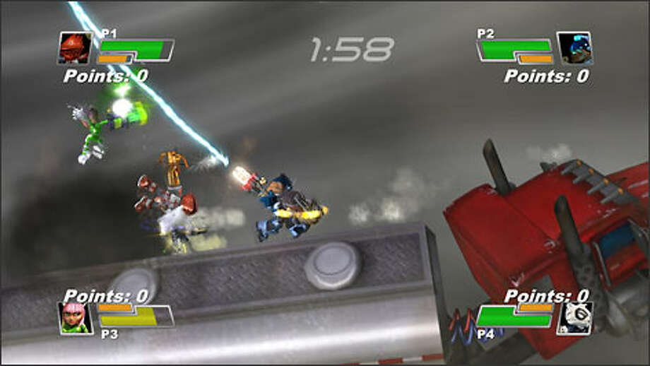 """Small Arms,"" available through Microsoft's Xbox Live Arcade system, features characters with weapons in the place of their right arms."
