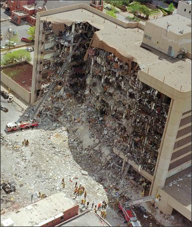 oklahoma city bombing The oklahoma city bombing on april 19, 1995, killed 168 people one picture encapsulated the terror: a firefighter cradling the lifeless body of baylee almon, who would be 21 this year.