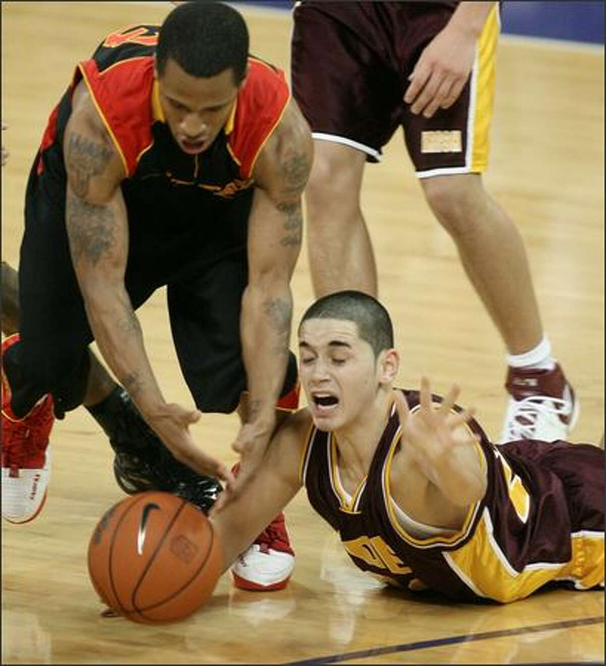 Chris Banchero, right, and O'Dea came up short against Fairfax of Los Angeles.
