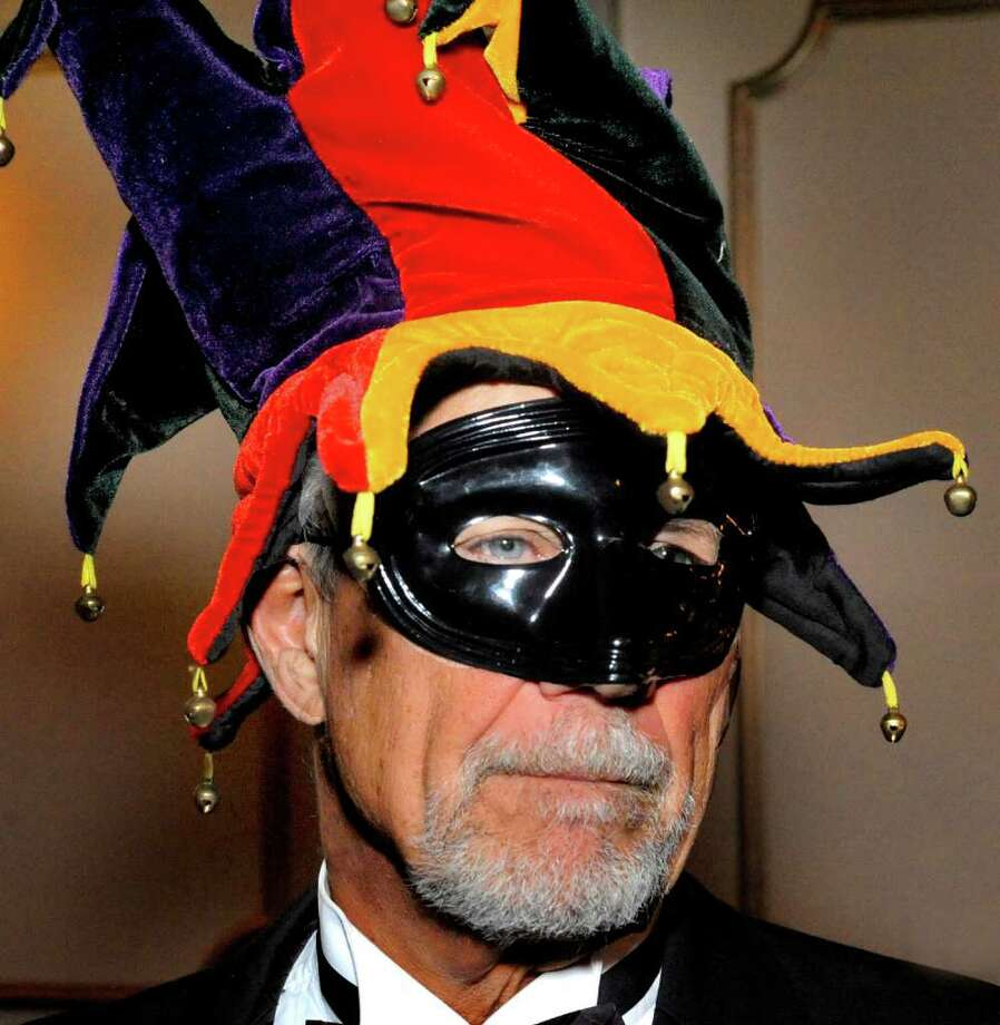 Dan Storrs is costumed in the spirit of the evening during the Mardi Gras Gala, hosted by the Brookfield Chamber of Commerce. The event was held at The Fox Hill Inn in Brookfield, Saturday, March 19, 2011. Photo: Michael Duffy / The News-Times