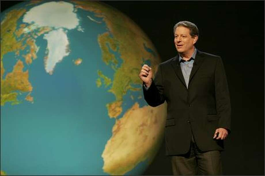 "Al Gore's documentary about global warming may not be shown unless the teacher also presents an ""opposing view."" Photo: / Paramount Classics"