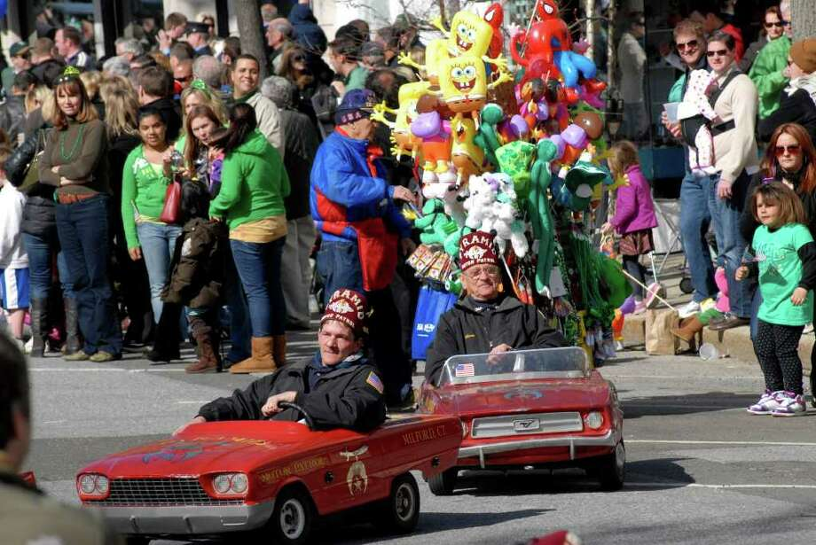 The 35th annual St Patrick's Day Parade heads down Greenwich Ave in Greenwich, Conn. on Sunday March 20, 2011, the parade is sponsored by the Greenwich Hibernian Association. Photo: Dru Nadler / Stamford Advocate