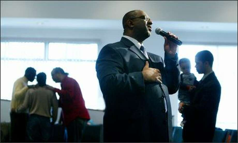 Harvey Drake is senior pastor at Emerald City Bible Fellowship, a multicultural church in Rainier Valley that started as a mostly black congregation in the early 1990s. Photo: Paul Joseph Brown/Seattle Post-Intelligencer