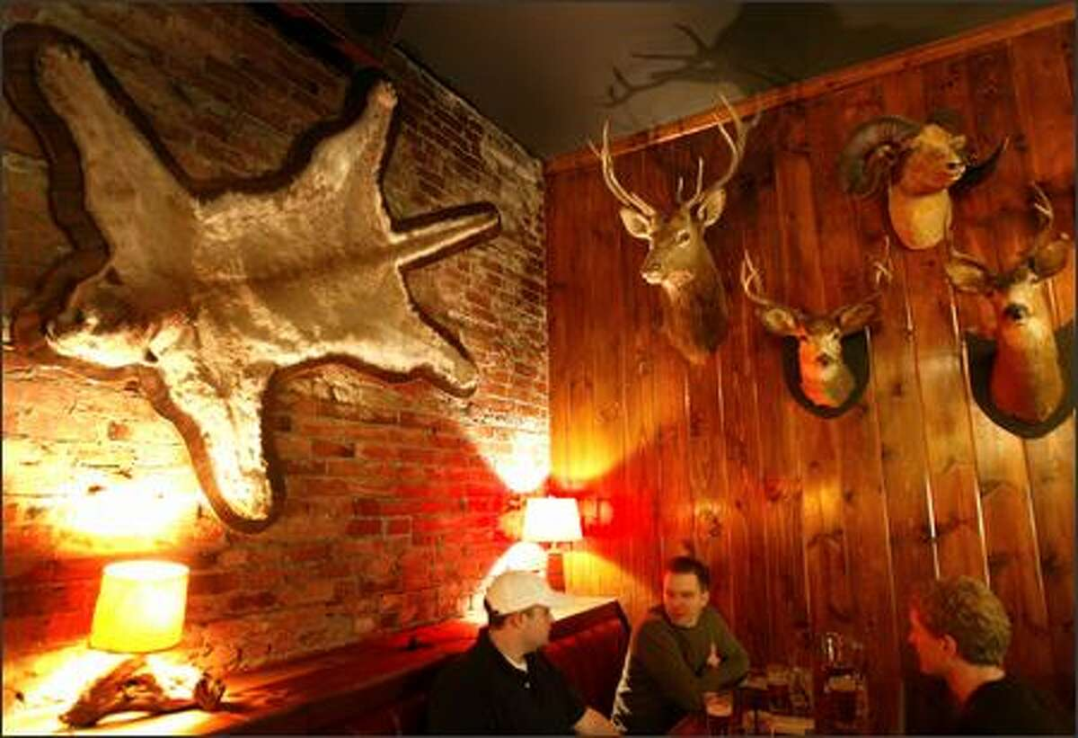 Five pairs of eyes watch over diners at King's Hardware, Ballard's newest quirky restaurant. Linda Derschang (who owns Linda's Tavern) opened the restaurant next to Hattie's Hat.