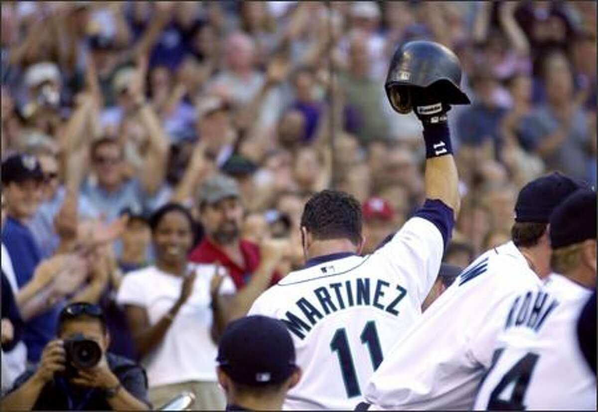 Former designated hitter Edgar Martinez has been back to Safeco Field only a few times since retiring after the 2004 season.