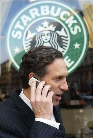 Starbucks chairman Howard Schultz led the state's executives in shareholder-paid perks -- along with $3.57 million in salary and bonuses. Photo: / Associated Press