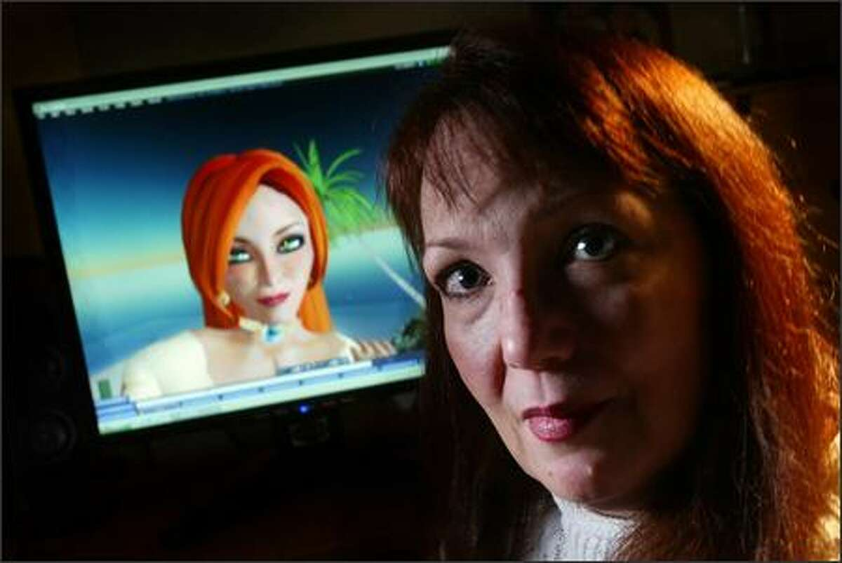 Robin McFarlane of Renton, whose avatar is Melodee Singer, designs and sells clothing on Second Life and is seeing a real-world payday.